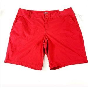Westport signature fit red Bermuda shorts mid rise
